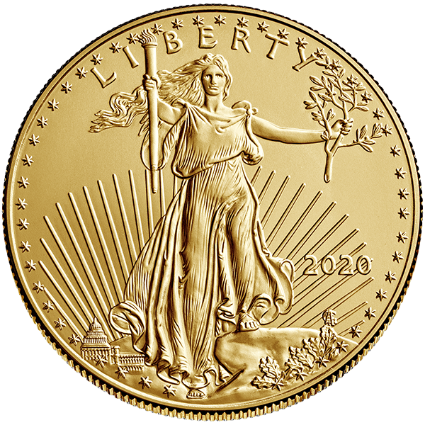 Gold American Eagle Front