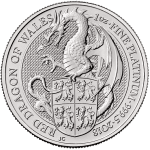 Platinum Red Dragon of Wales - Queens Beast Bullion