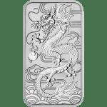 Silver Rectangler Dragon Coin