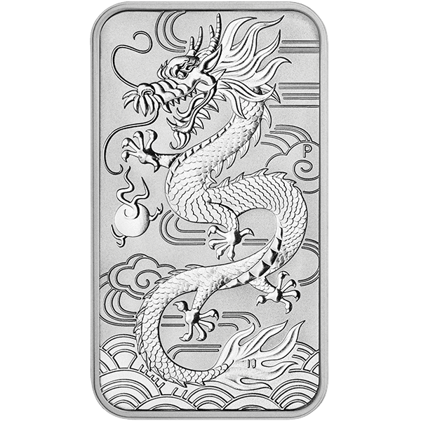 Dragon Rectangular Coin Front
